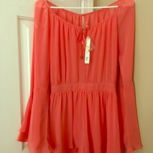 Mustard Seed Coral Romper